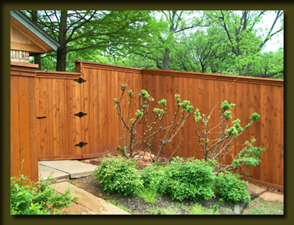 Aarons Okie Fence Company Oklahoma fence staining