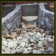 Custom decorative rock walls too